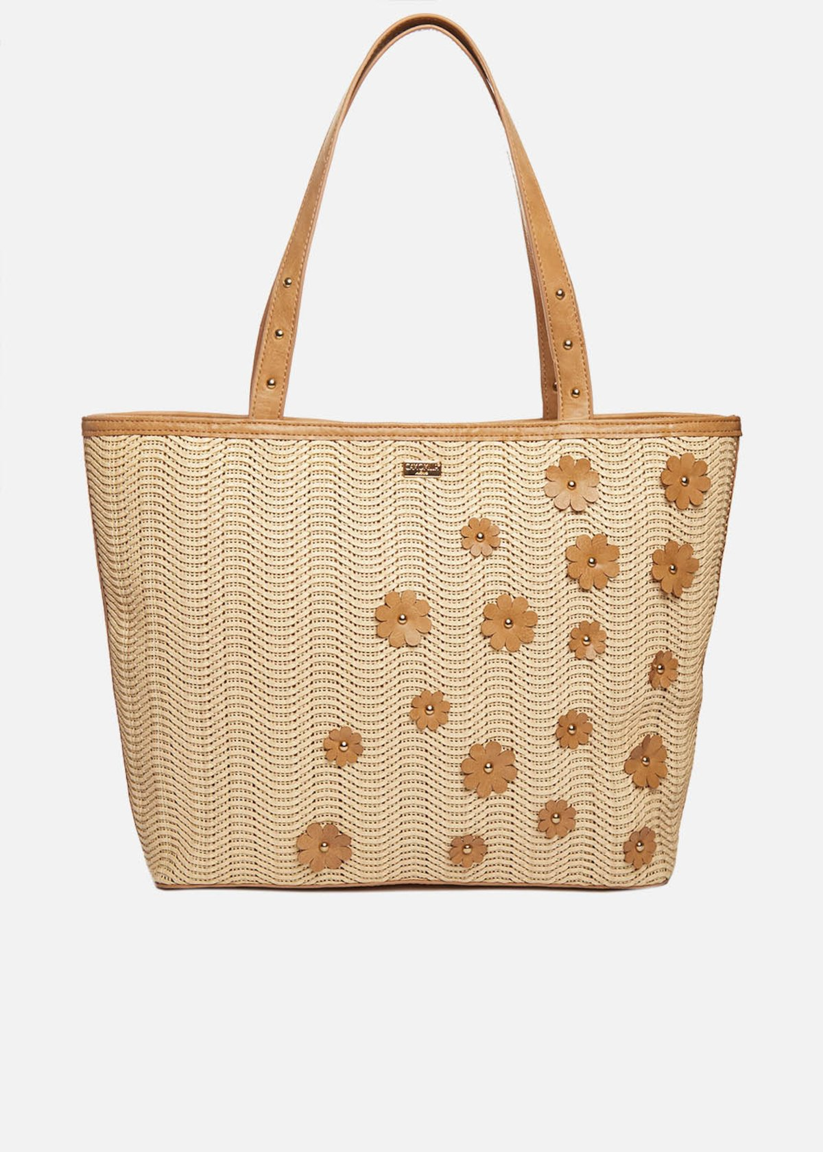 Shopping bag Blake con applicazioni floreali