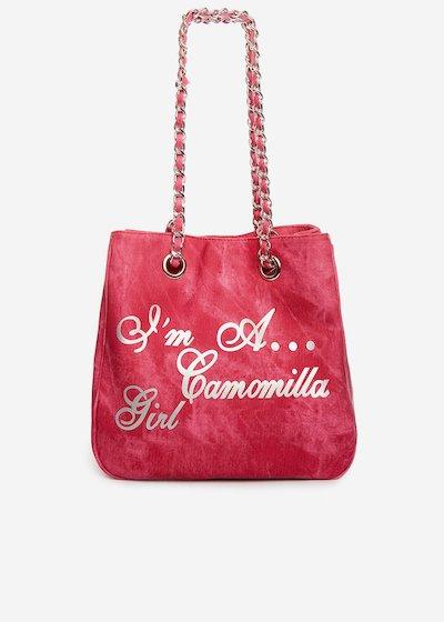 Minidenim faux leather shopping bag