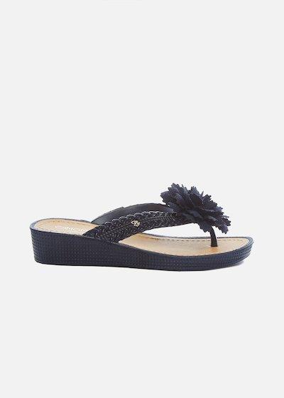 Calisteya flip flops with flower and wedge