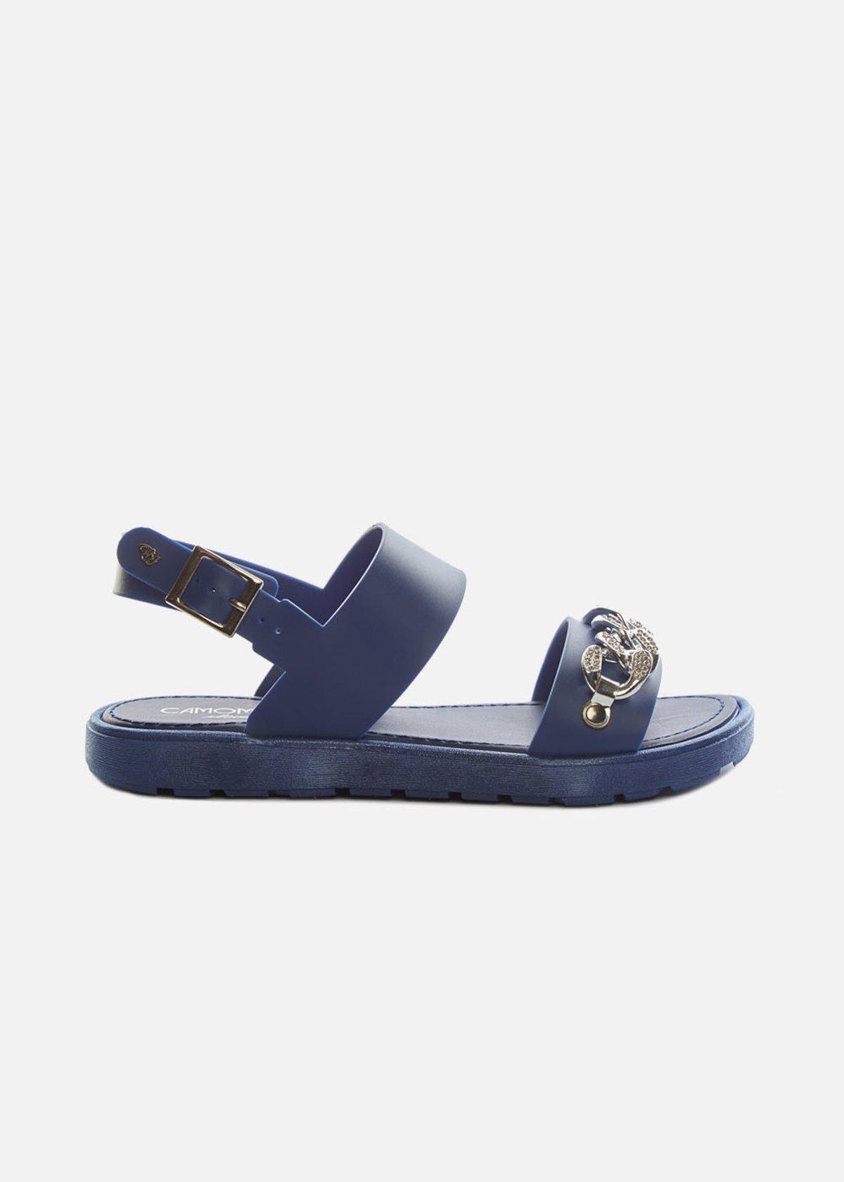 Sandali Chenzia con catena di strass e cinturino