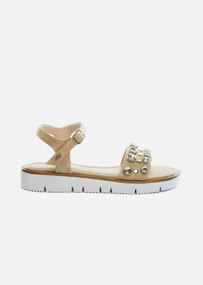 Secla sandals with rhinestones and moulded platform