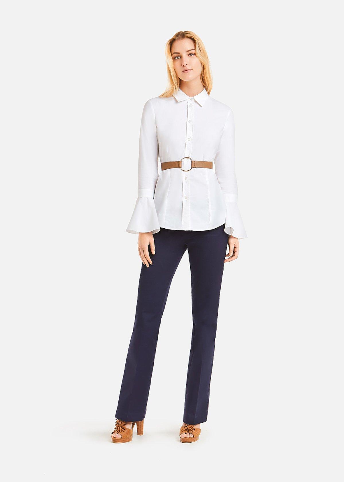 Carola Poplin Shirt - Bianco