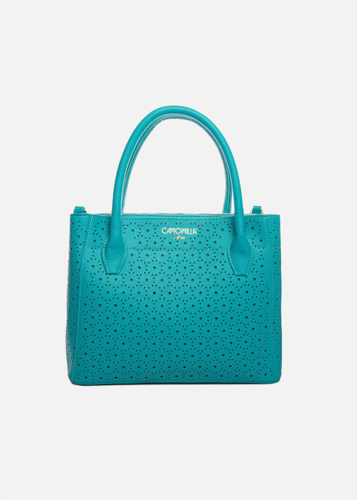 Borsa Bruni in ecopelle traforata - Emerald