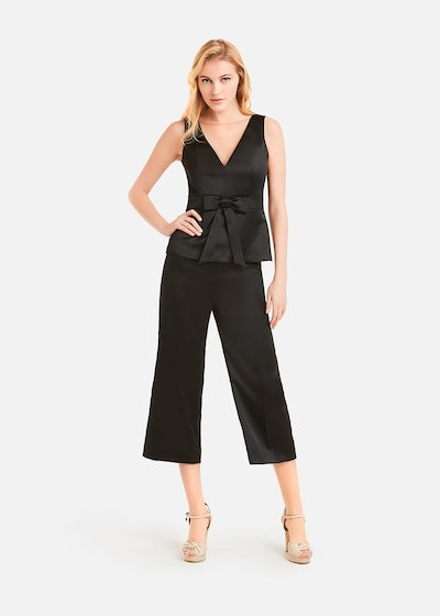 Short and wide leg Puma trousers - Black