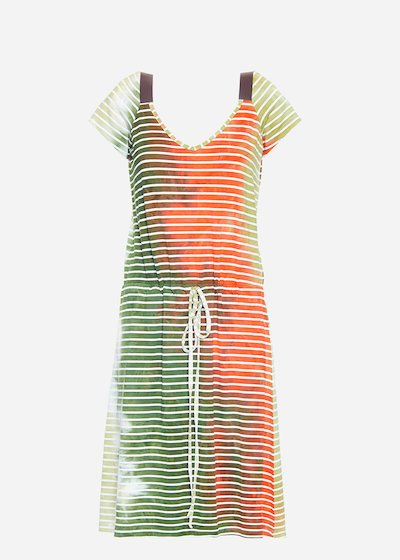 Aril dress with striped printing