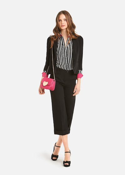 Piero cadi fabric trousers - Black