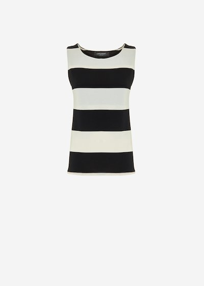 Tagor Top stripe fantasy - White / Black Stripes