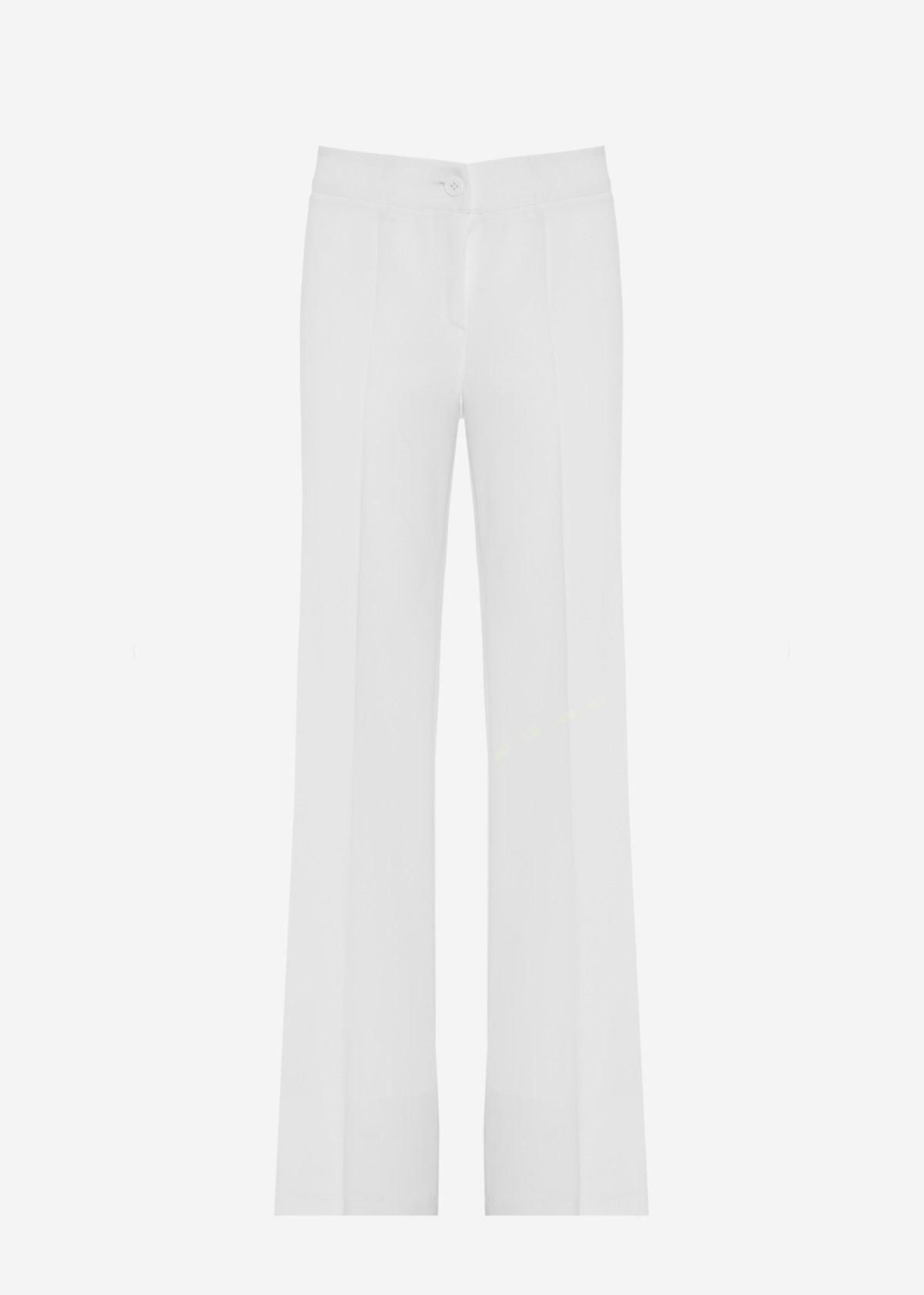 Wide leg crepe trousers Priamo - Bianco