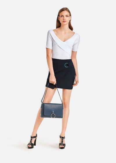 Gioele skirt wrap-over effect
