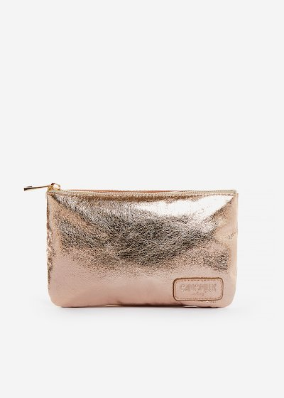 Tonga clutch bag laminated effect