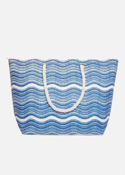 Shopping bag Brassa waves printed con manici in corda