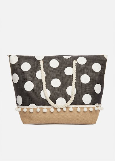 Shopping bag Bago with macro polka dots and rope handles