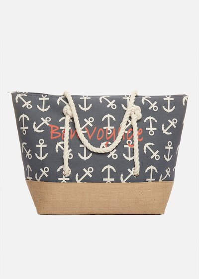 Shopping bag Bafia with anchors and rope handles