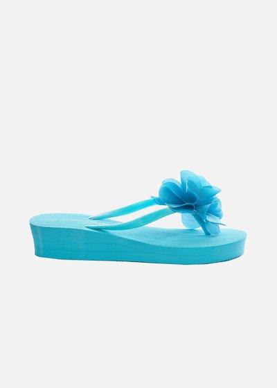 Callisia flip flops with flower detail