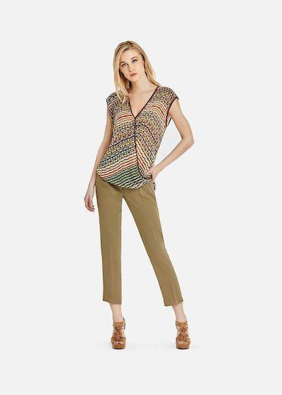 Tigger top sleeveless with teheran pattern