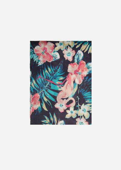 Satea flamingo printed scarf/sarong