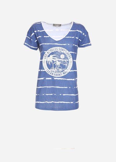 T-shirt Soflan con print sul davanti