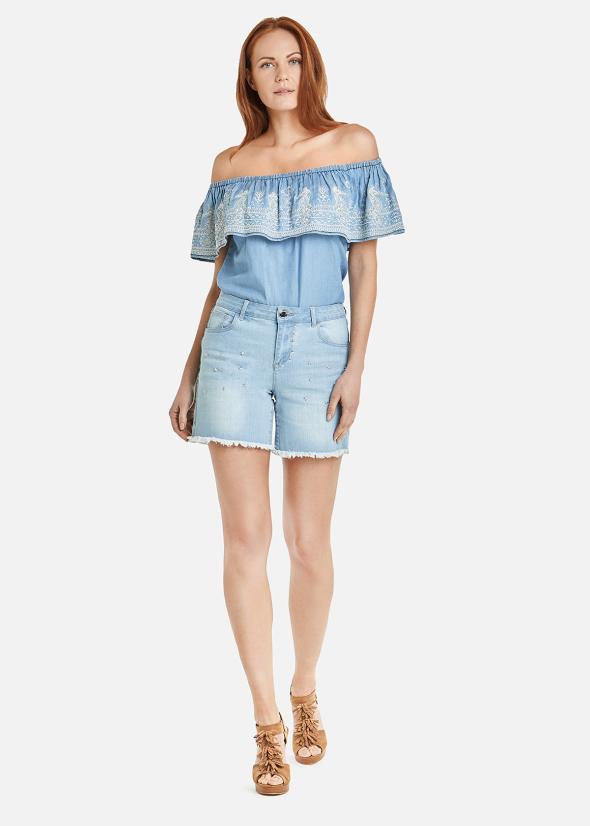 Brian light denim shorts