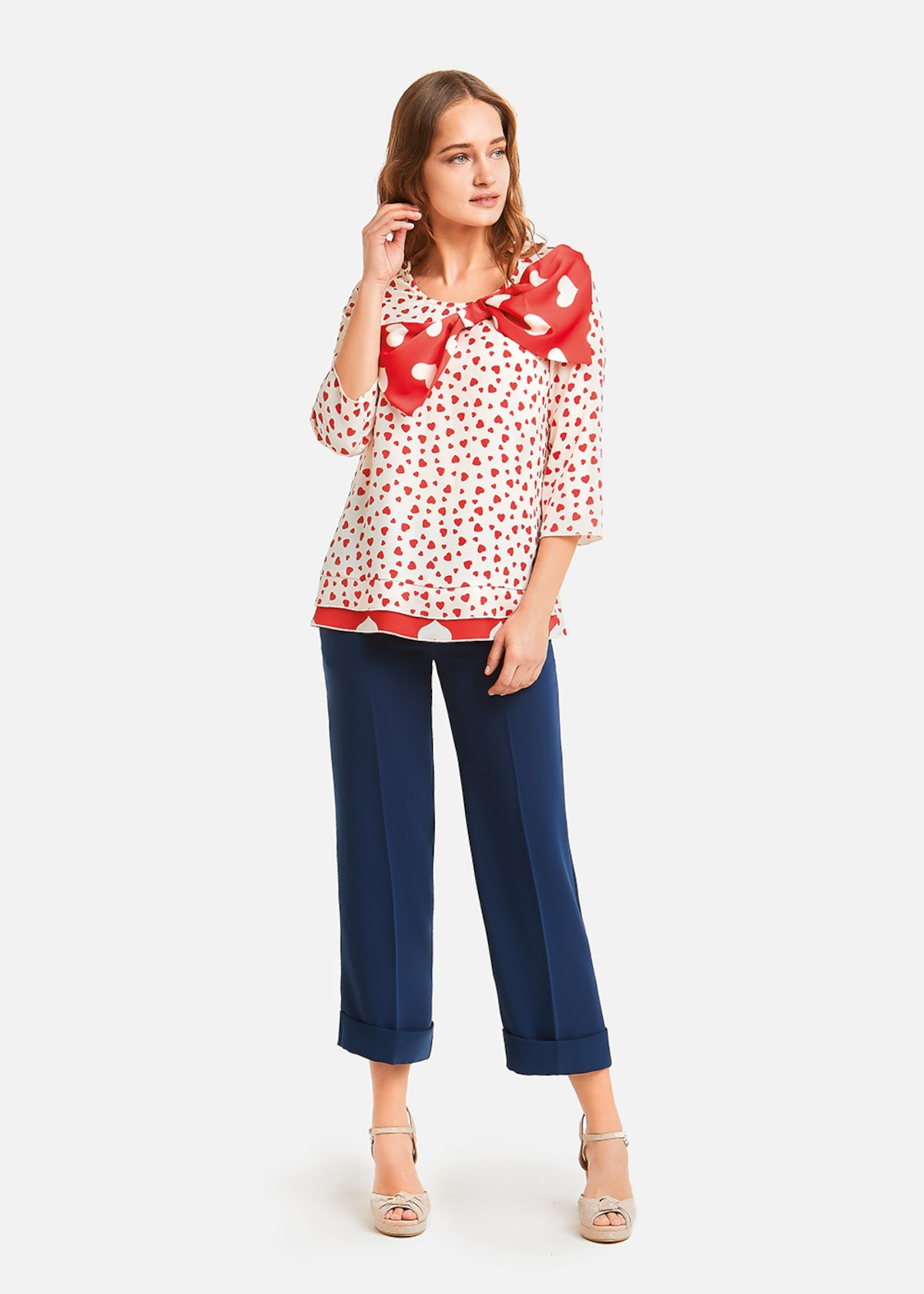 Calliope blouse with bow