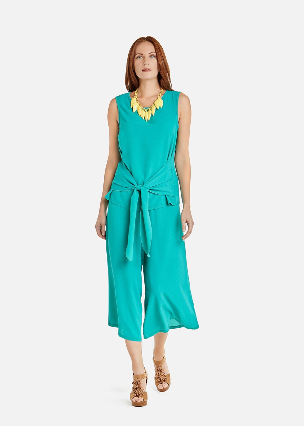 Pantaloni Patric a palazzo - Emerald