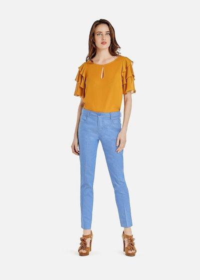 Pendy trousers in chambray scarlett pattern