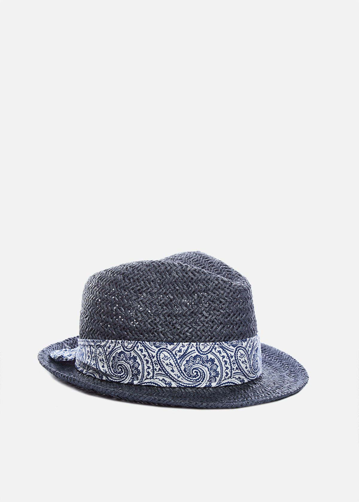 Paper hat Cyprien avion color con fascia in cashmere