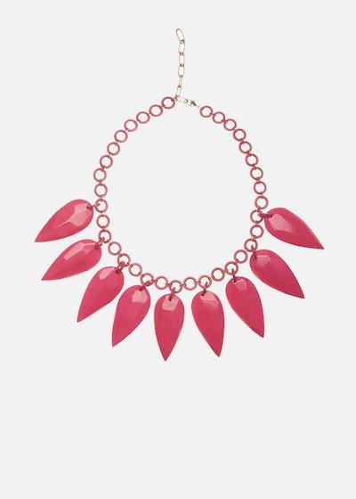 Climene resin necklace with teardrop pendants