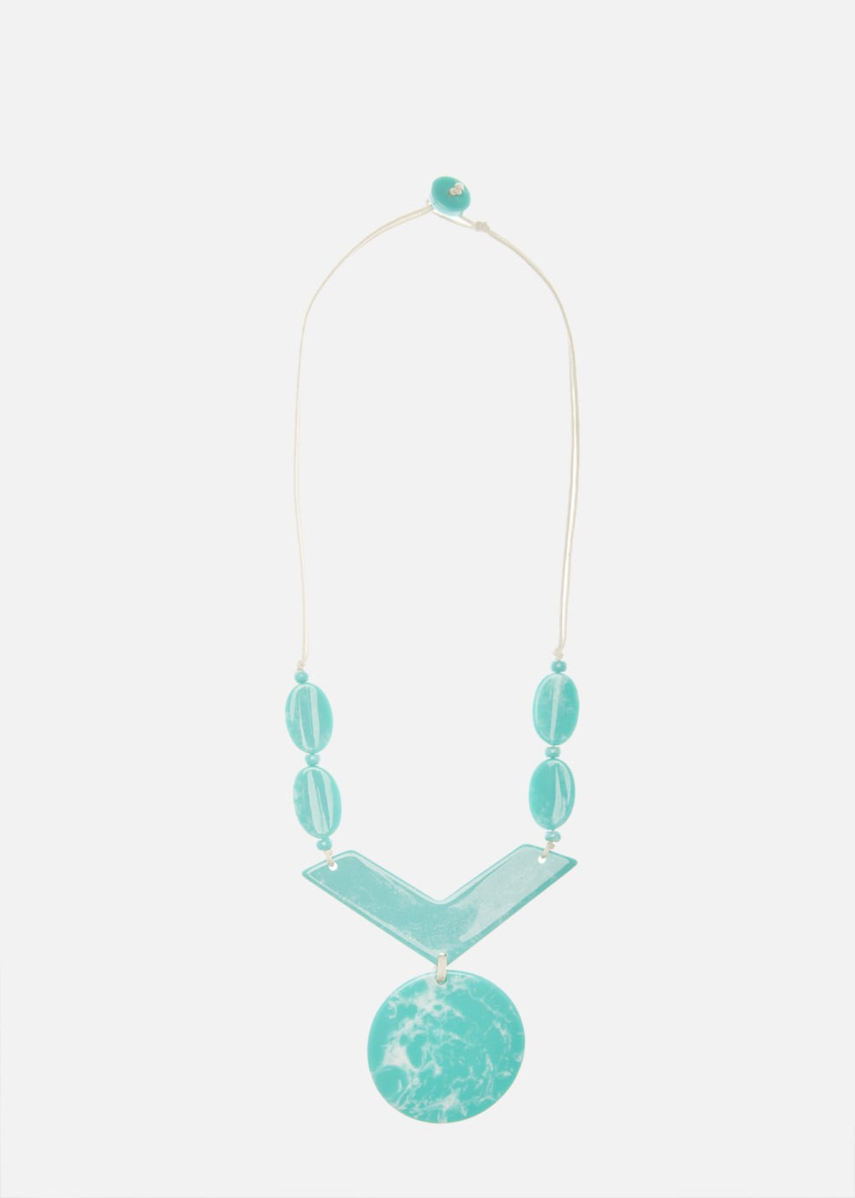 Collana Caloa in resina con pietre turchesi - Turquoise / Avion