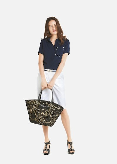 Candida short-sleeved georgette shirt