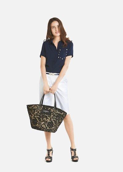 Candida short-sleeved georgette shirt