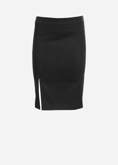 Gioia skirt in cotton sateen with side slit