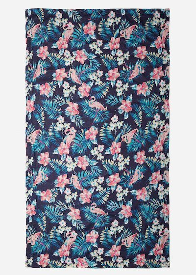Flamingo printed Tracy beach towel