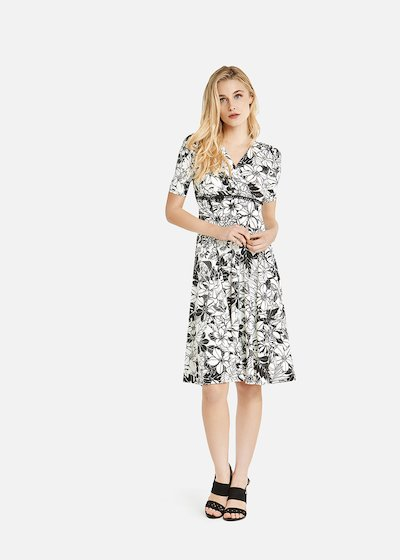 Adamo dress black pearl pattern