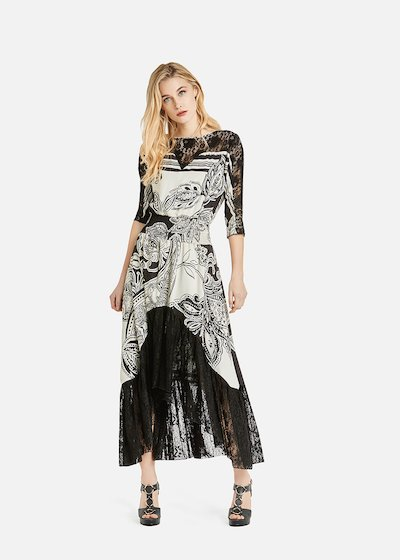 Andrea dress with exotic jungle pattern