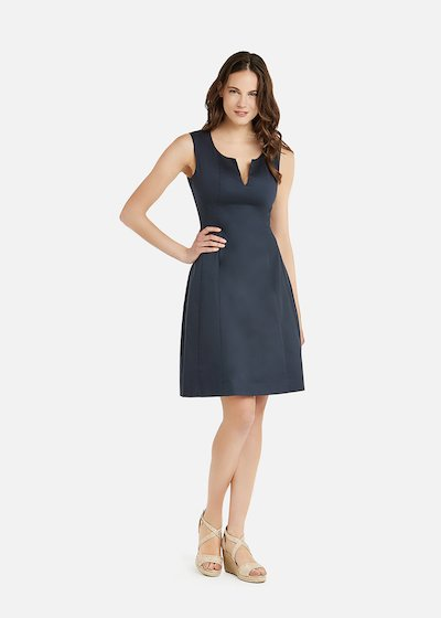 Astrid  cotton sateen midi dress