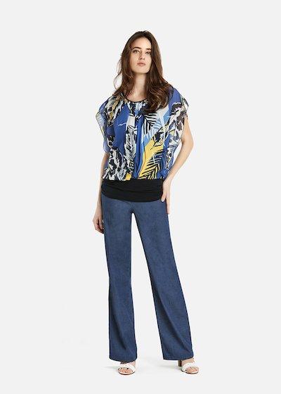 Sabin blue jungle patterned t-shirt