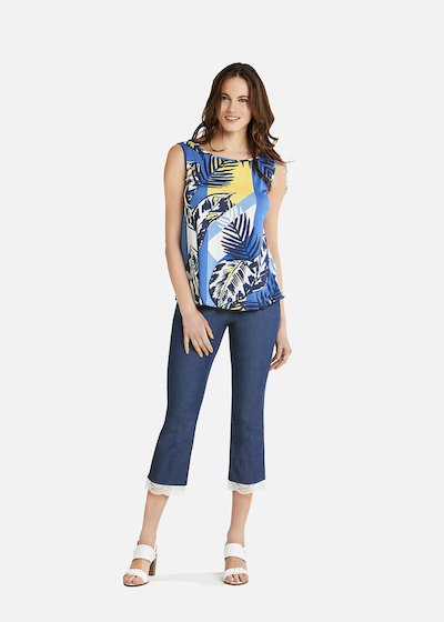 Tiago T-shirt with blue jungle pattern