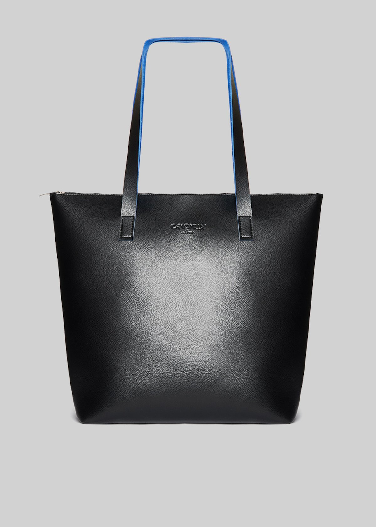 Bilia shopping bag in double colour faux leather - Black / Hero