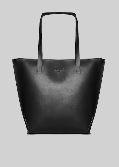 Bady faux leather shopping bag with Camomilla ilove logo
