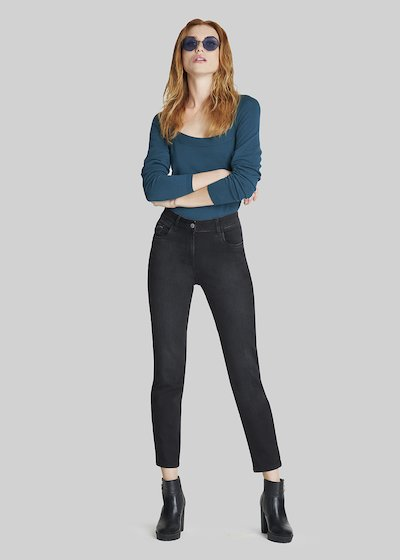 Denim Dagor trousers with rhinestones inserts