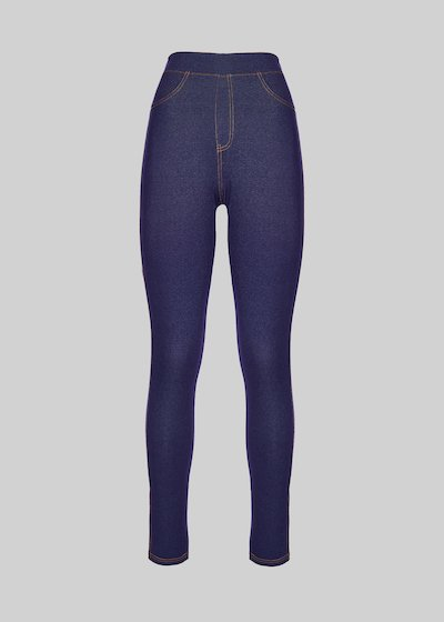 Peggy denim effect trousers