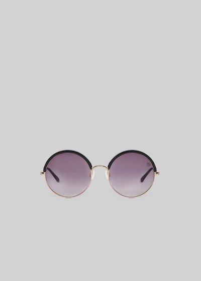 Cat-eye sunglasses round model