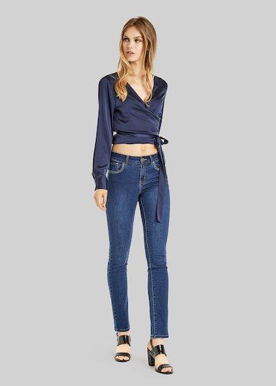 Jeans Dean 5 tasche con stitching details