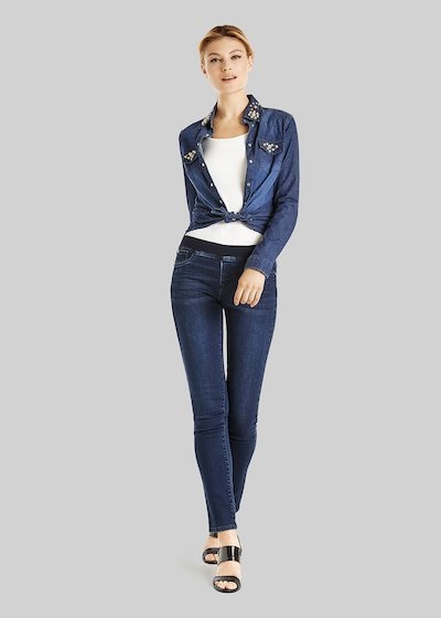 Jeggings Douglas in denim con elastico in vita