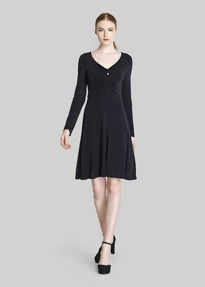 Andry Dress of lurex jersey with pearls on the front