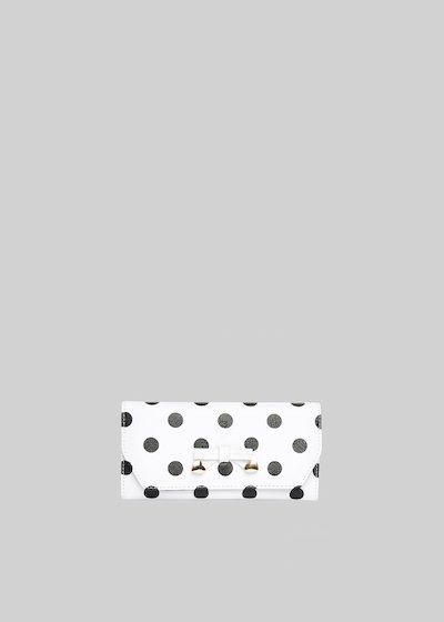 Saffiano faux leather Pimpa polka dots printed wallet