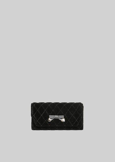 Pilta wallet velvet effect with bow detail