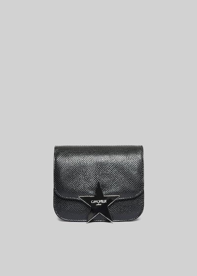 Baita clutch bag faux leather Python effect with star closing