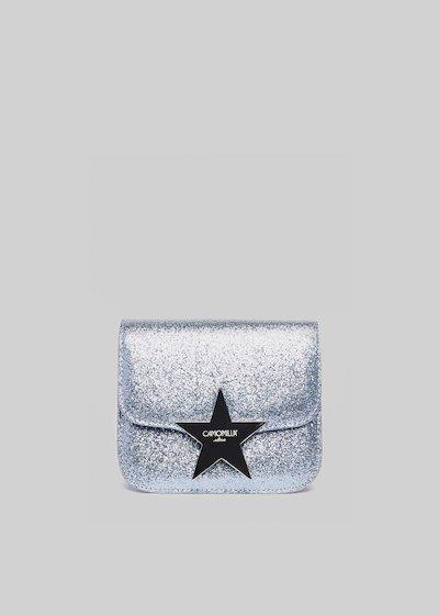 Glitter clutch bag with star closing
