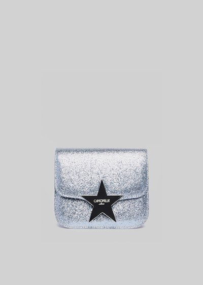Glitter clutch bag with star closing